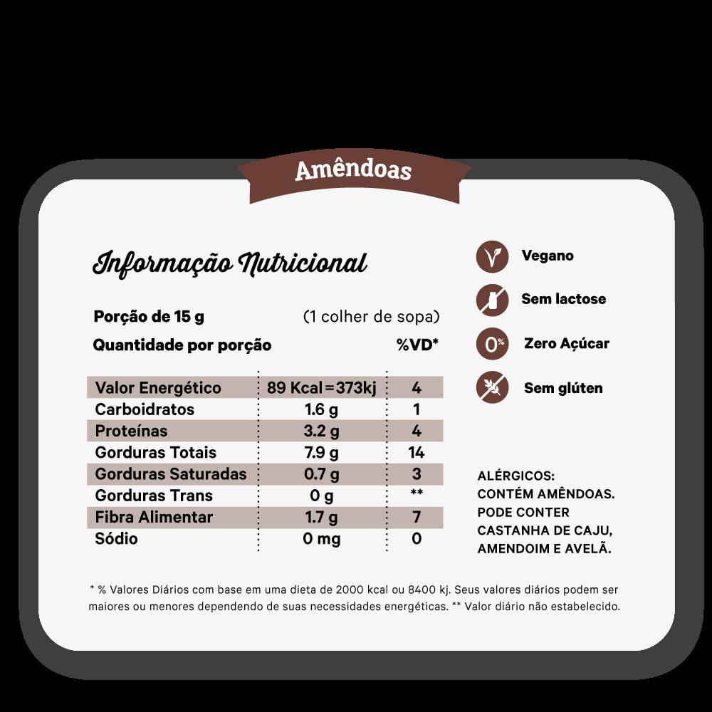 Pasta de Amêndoas Integral 450g