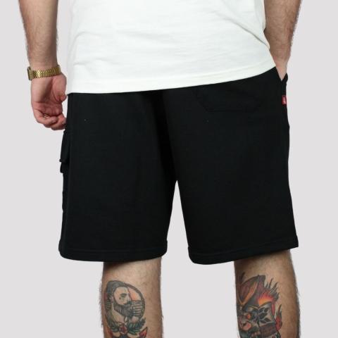 Bermuda High Sweat Cargo Shorts - Black
