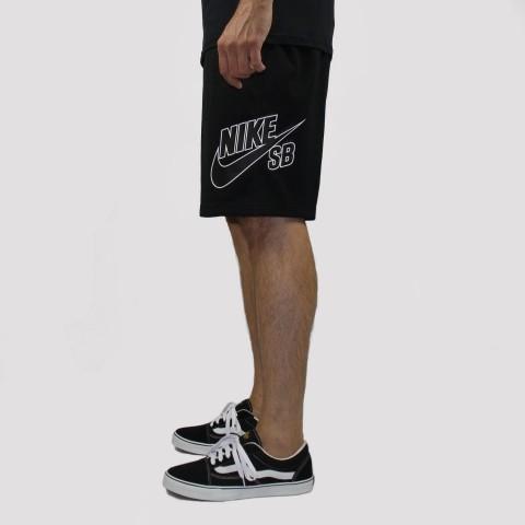 Bermuda Nike SB Dry Logo - Preto/ Branco