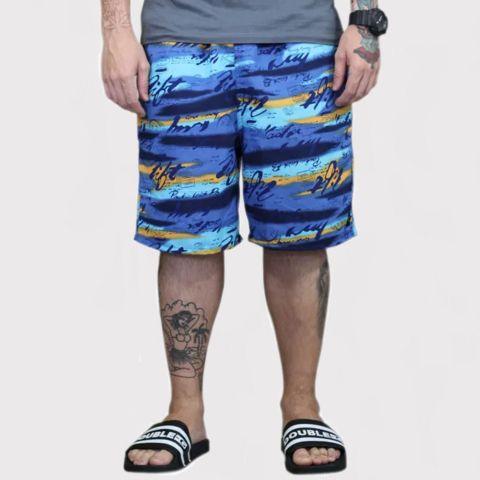 Bermuda Pânico Summer Azul/Laranja
