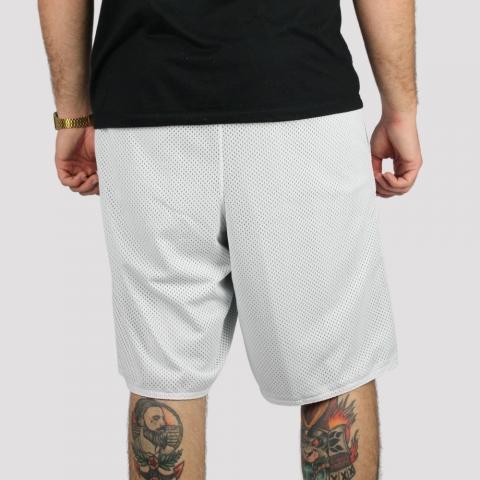 Bermuda Pixa In Dupla Face Logo Bordado -Branco/ Branco