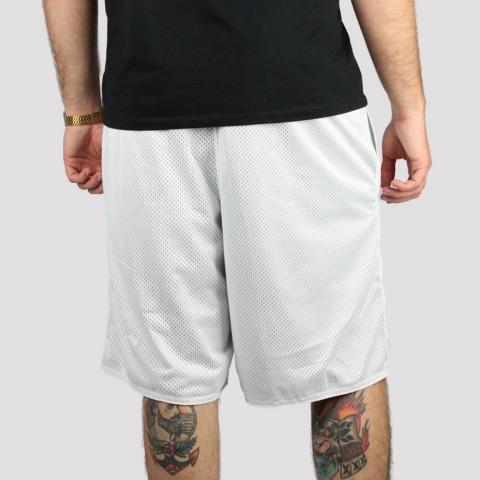Bermuda Pixa In Dupla Face Logo - Branco/ Cinza Claro