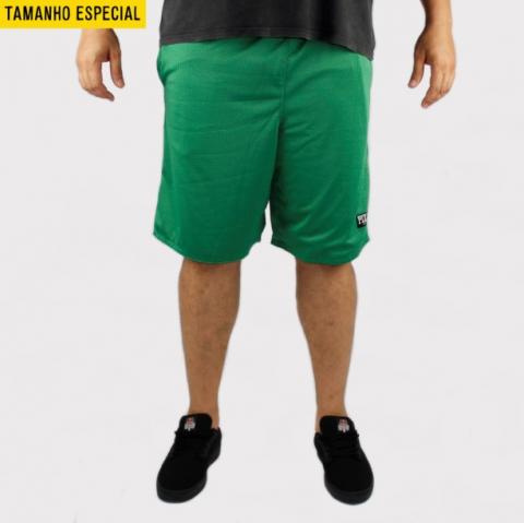 Bermuda Pixa in Dupla Face Verde/Verde (Tamanho Especial)