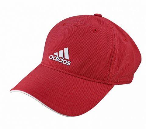 Boné Adidas Aba Curva Climalite Perf Logo Vermelho/Branco