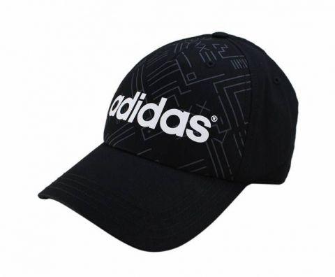 Boné Adidas Aba Curva Neo AOP Estampa Corrida Preto/Branco