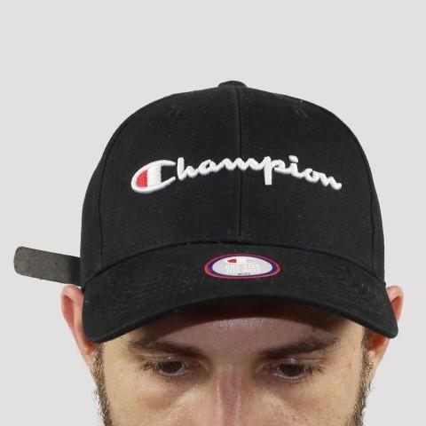 Boné Champion Strapback - Preto/Branco