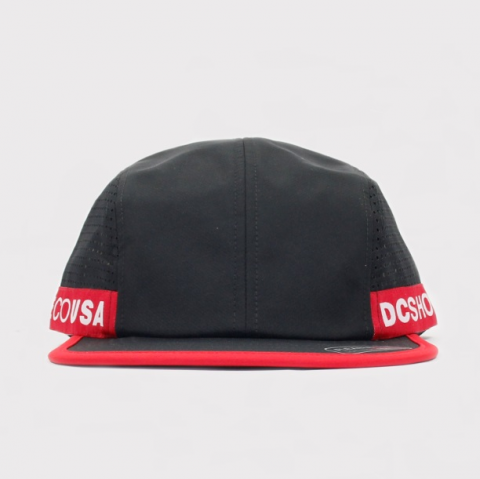 Boné DC Shoes Taperson Five Panel Preto/Vermelho