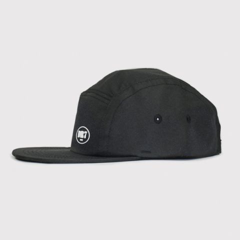 Boné DR7 5 Panel Logo Circle - Preto