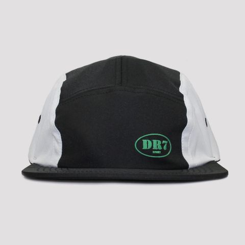 Boné DR7 Five Panel Logo - Preto/Branco/Verde