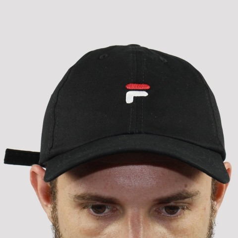Boné Fila Dad Hat Flag Preto