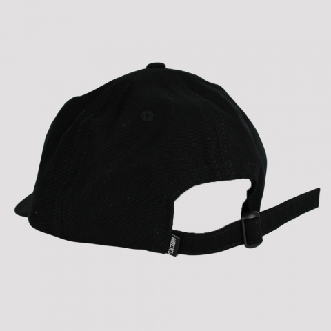 Boné Hocks Font Strapback Dad Hat - Preto