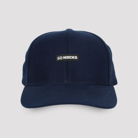 Boné Hocks Snapback Aba Curva Logo - Marinho