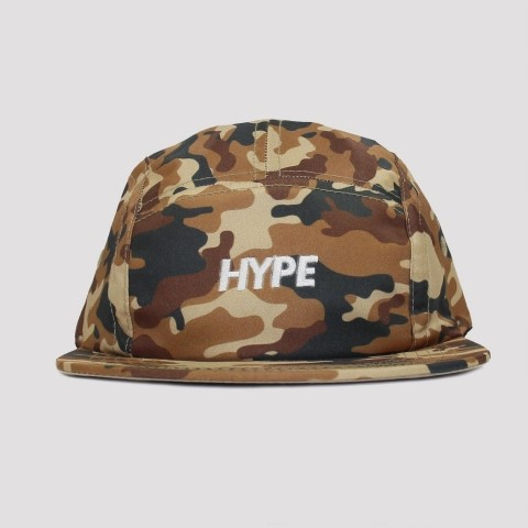 Boné Hype Five Panel Camuflado - Marrom