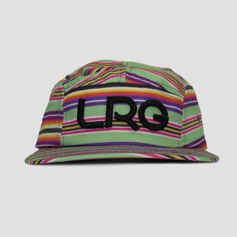 Boné LRG Peyote Five Panel Multicolor- Verde/Roxo/Amarelo