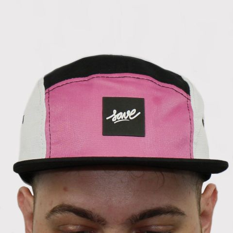 Boné Save Five Panel - Rosa/Preto/Branco