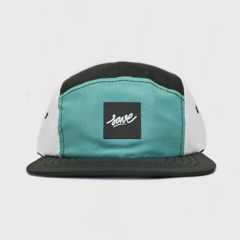 Boné Save Five Panel - Verde/Preto/Branco