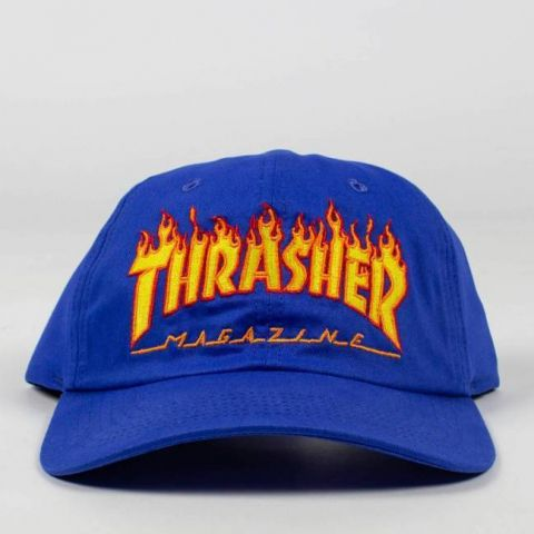 Boné Thrasher Dad Hat Flame - Azul