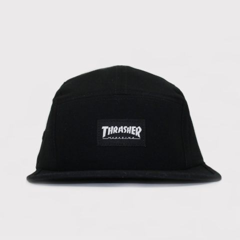 Boné Thrasher Five Panel Mag Logo - Preto