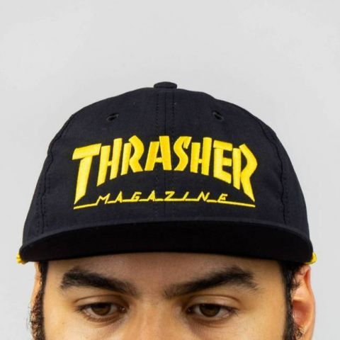 Boné Thrasher SnapBack Logo - Preto/Amarelo