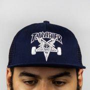 Boné Thrasher Trucker Skate Goat Mesh Azul Marinho