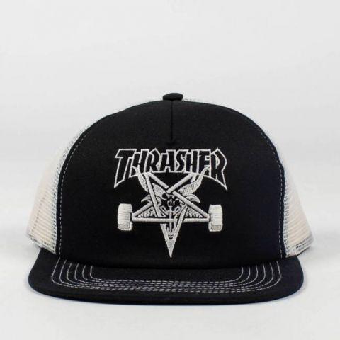 Boné Thrasher Trucker Skate Goat Mesh - Preto