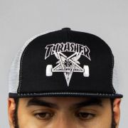 Boné Thrasher Trucker Skate Goat Mesh Preto