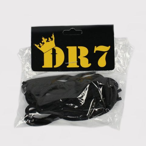 Cadarço DR7 Achatado - Preto