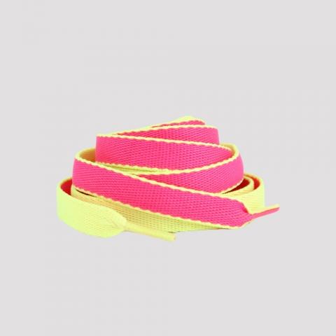Cadarço DR7 Fita - Amarelo/ Rosa