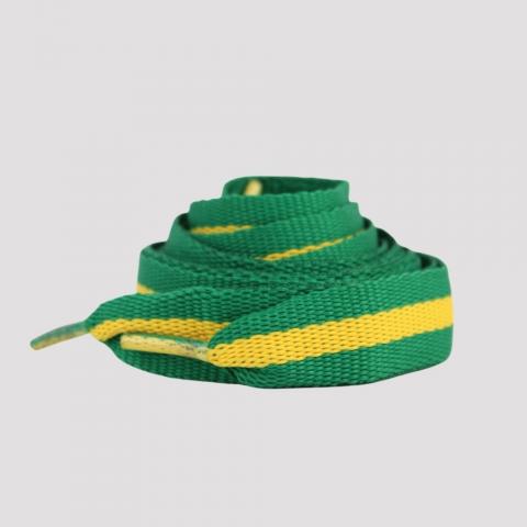 Cadarço DR7 Fita - Verde/ Amarelo