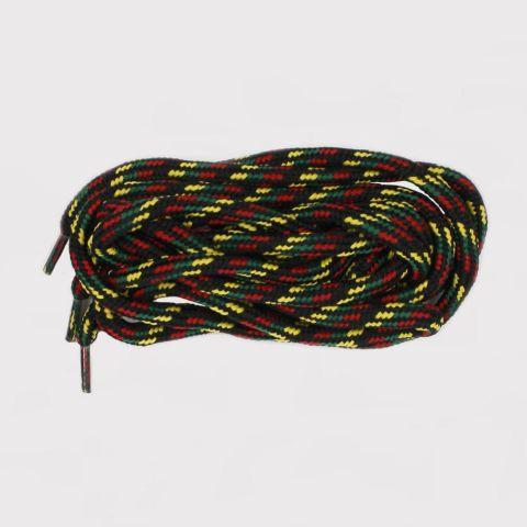 Cadarço DR7 Redondo Reggae - Verde/Amarelo/Vermelho/Preto