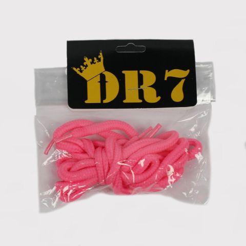 Cadarço DR7 Redondo - Rosa Florescente