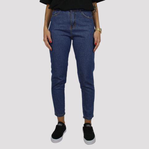 Calça Gringa Jeans Mom Fit - Jeans Escuro