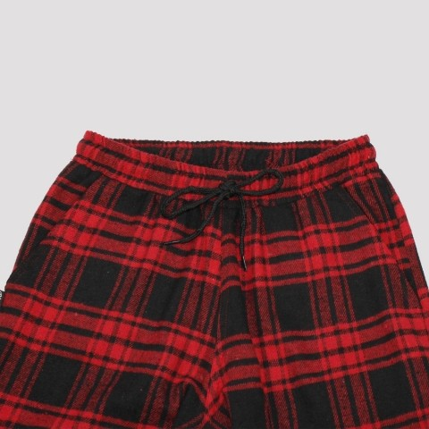Calça Riot Escocesa - Vermelha/Preta