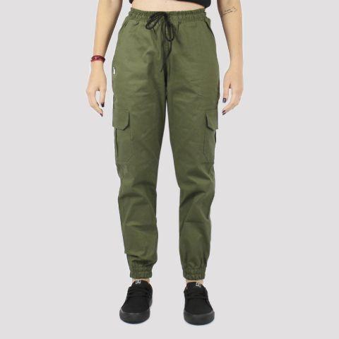 Calça Riot Jogger Sarja Cargo - Verde Militar
