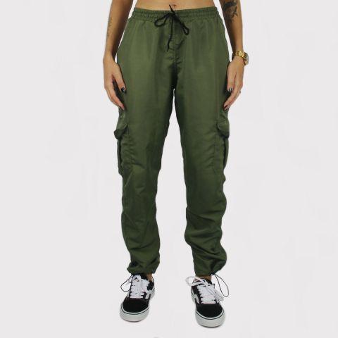 Calça Riot Jogger Tactel Cargo - Verde militar