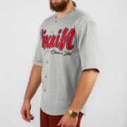 Camisa Pixa In Baseball Cinza/Vermelho
