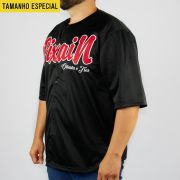 Camisa Baseball Pixa In Preto/Vermelho (Tamanho Especial)