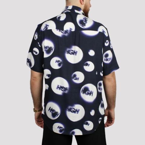 Camisa High Tee Button Shirt Shorts - Navy