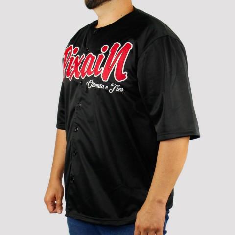 Camisa Pixa In Baseball (Tamanho Extra) - Preto/Vermelho