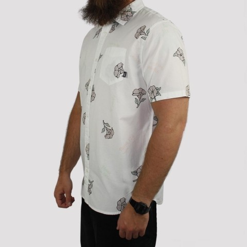 Camisa Vans Thank You Floral - Branco