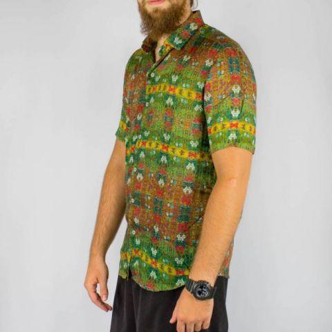 Camisa WR Floral Colorida Full Print