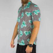 Camisa WR Listrada Floral Azul