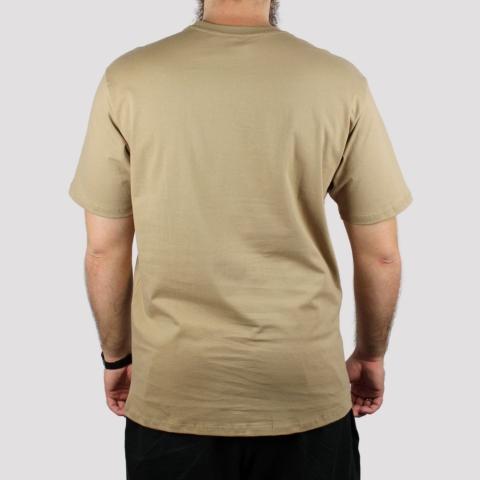 Camiseta HUF Logo - Areia