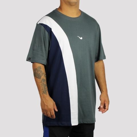 Camiseta Blaze Supply Tricolor Diagonal - Grey