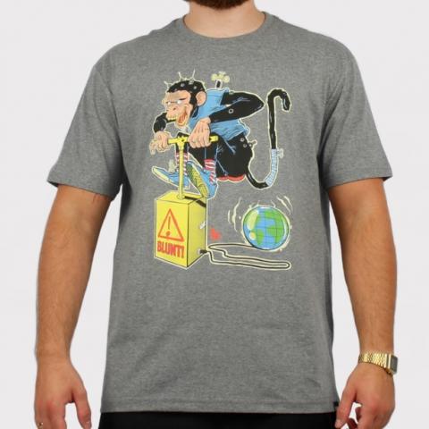 Camiseta Blunt Cruelty Free - Cinza Mescla
