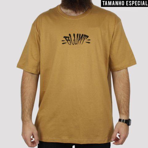 Camiseta Blunt Extra Logo (Tamanho Especial) - Caramelo