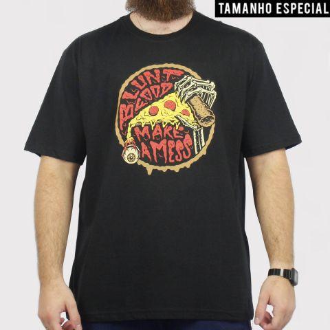 Camiseta Blunt Pizza - Preto (Tamanho Especial)