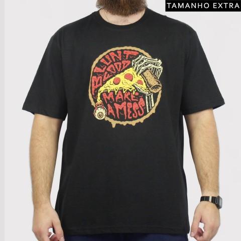 Camiseta Blunt Pizza (Tamanho Extra) - Preto