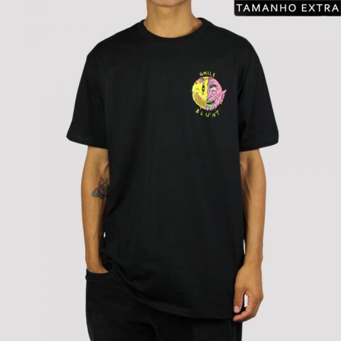 Camiseta Blunt Smile II (Tamanho Extra) - Preto