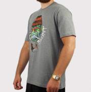 Camiseta Blunt Smoking Planet - Cinza Mescla